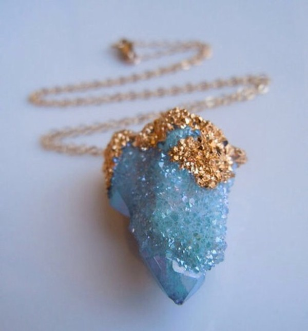 jewels necklace stone necklace stone blue stone blue necklace gold jewelry gold necklace gem gemstone gold