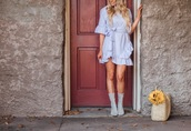 whiskey and lace by erika altes -,blogger,dress,sunglasses,bag,shoes,boots,blue dress,fall outfits
