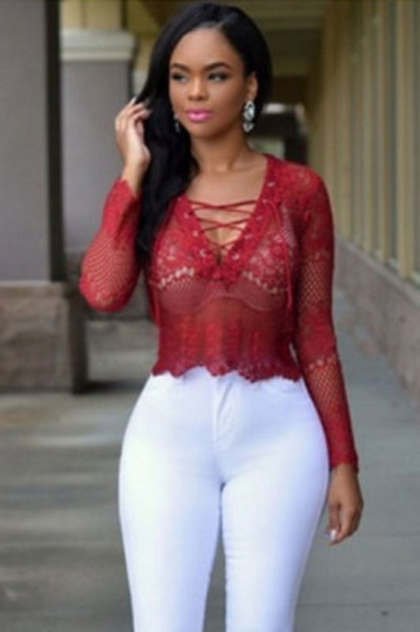 Top Top Cropped Hem Red Top Sexy Tops Cute Wots Hot Right Now
