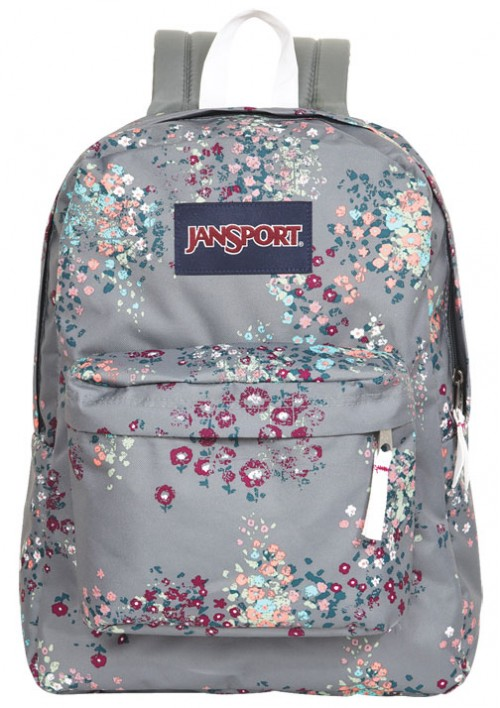 Delias Jansport Reg Grey Floral Backpack | Bag