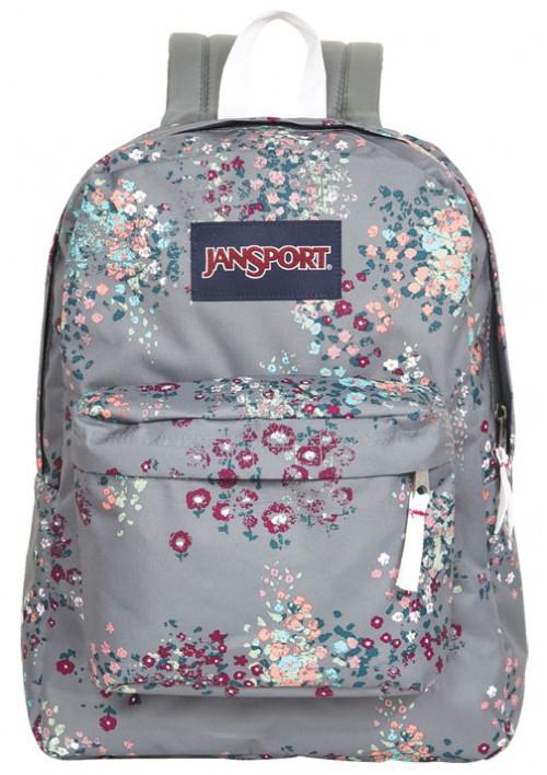 Jansport Reg Grey Floral Backpack | Bag