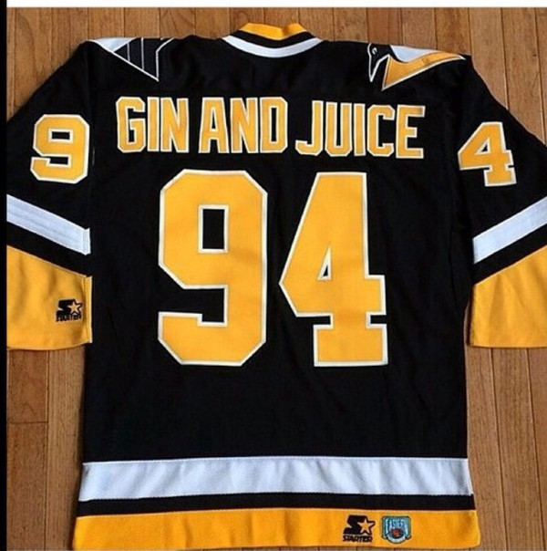1994 Pittsburgh Penguins Gin And Juice Snoop Dogg Jersey