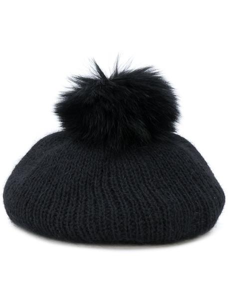 beret black hat
