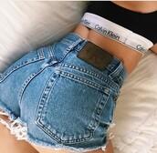 shorts,hot pants,denim pants,denim,calvin klein,high waisted jeans,high wasted calvin klein,calvin klein jeans,High waisted shorts