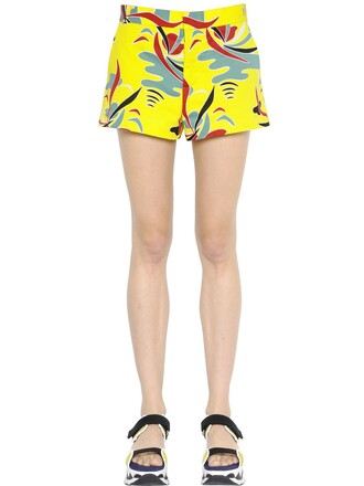shorts cotton yellow
