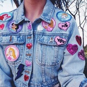 jacket,denim jacket,patched denim,customized,disney princess,disney,cinderella,Pocahontas,the little mermaid,pink