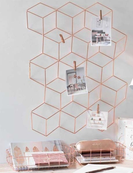 home accessory rose gold
