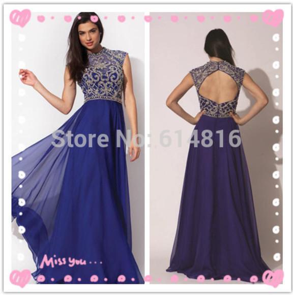 jovani prom dress open back prom dress high neck noble prom dress