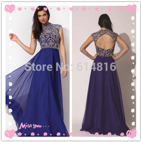 jovani prom dress open back prom dress high neck noble prom dress