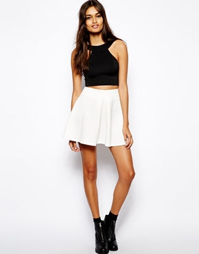 Oh My Love | Oh My Love Scuba Front Pleat Skirt at ASOS