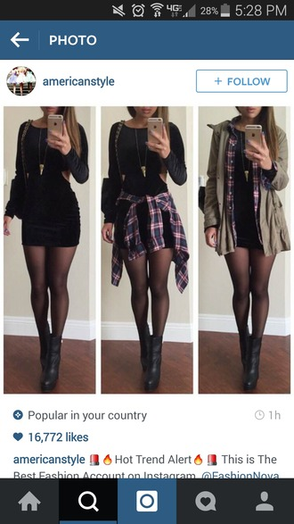 jacket flannel shirt