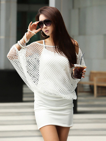 streetstyle white dress halter amaizng skirts