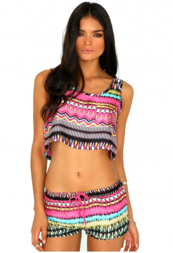 Katey Tribal Print Shorts - shorts - missguided