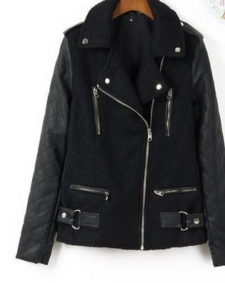 Wool Hybrid Biker Jacket – Dream Closet Couture