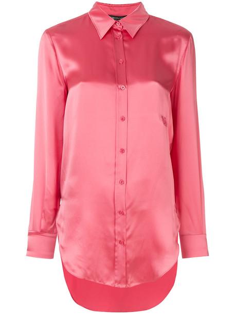 Twin-Set shirt women silk purple pink top