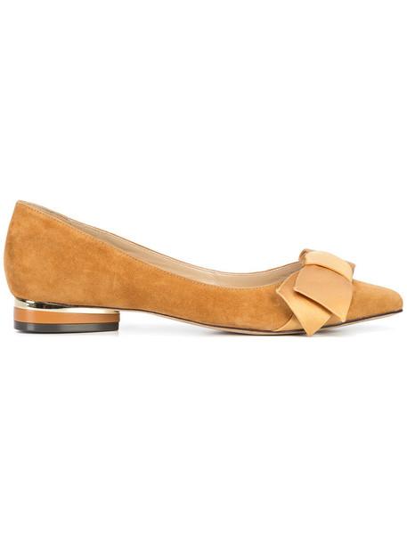 ZAC Zac Posen women leather suede brown shoes