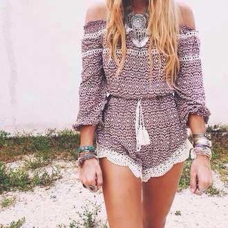 jumpsuit romper boho boho chic summer outfits bohemian summer lace