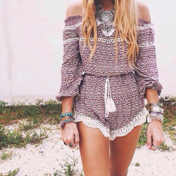 1a7e2c0c530 jumpsuit romper boho boho chic summer outfits bohemian summer lace