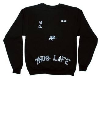 sweater black tupac