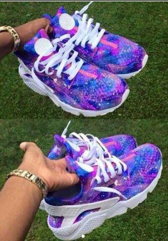 shoes nike galaxy print hurrache