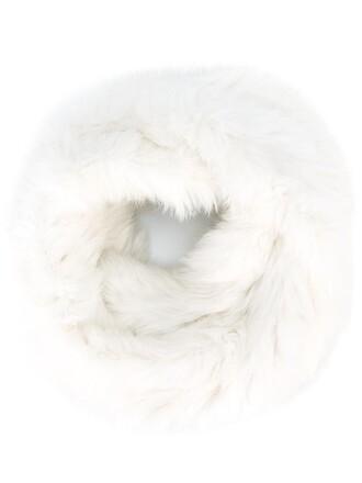 fur women scarf white