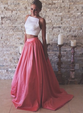 dress two-piece two piece dress set maxi skirt pink skirt