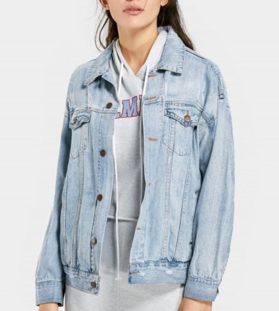 jacket girly blue denim jacket denim button up