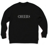 sweater,sweatshirt,black,white,cheers,cheer$,vinny cha$e,cheerleading,style,quote on it,letters