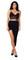 Black asymmetrical draped lay over skirt