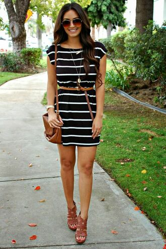 dress stripes little black dress