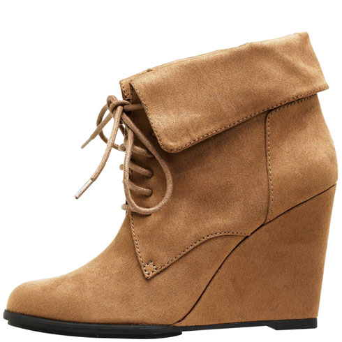b00a08a56079 Womens - Fioni - Women s Tenley Lace-up Wedge Boot - Payless Shoes