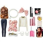 top,flowers,peplum,ariana grande,cute,tumblr,pretty,sweet,sweater,t-shirt,peplum top,tumblr outfit,blouse,jeans,shoes,bag,hair accessory,jewels,nail polish,make-up,shirt,cardigan