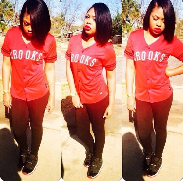 shirt red baseball jersey crooks and castles