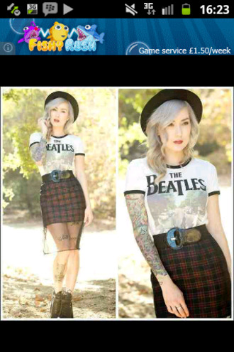 checkered red skirt belt the beatles