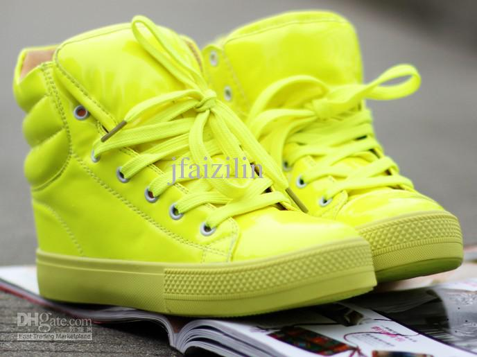 Wholesale 2012 fashionable hot sale new lady shoes candy color shoes shiny shoes with flat girl leisure shoes, free shipping, $37.5/piece