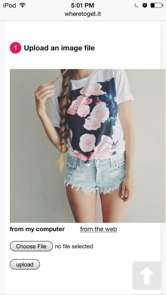 shirt t shirt floral floral shirt