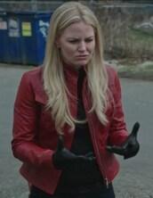 jacket,red,leather,emma swan,jennifer morrison,once upon a time show