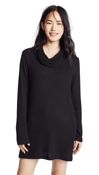 Z Supply Brushed Rib Cowl Dress in black
