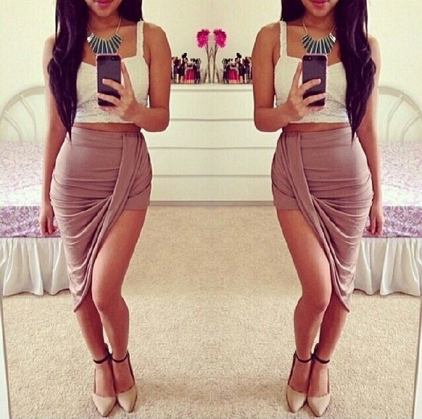 skirt black cream cute instagram long short summer outfit spring dress shoes beautiful hot skirt hot pink girly tumblr weheartit