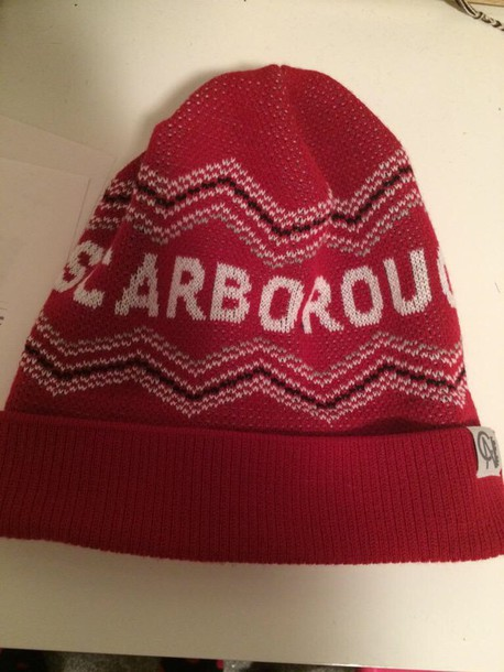 hair accessory scarbrough hat red beanie