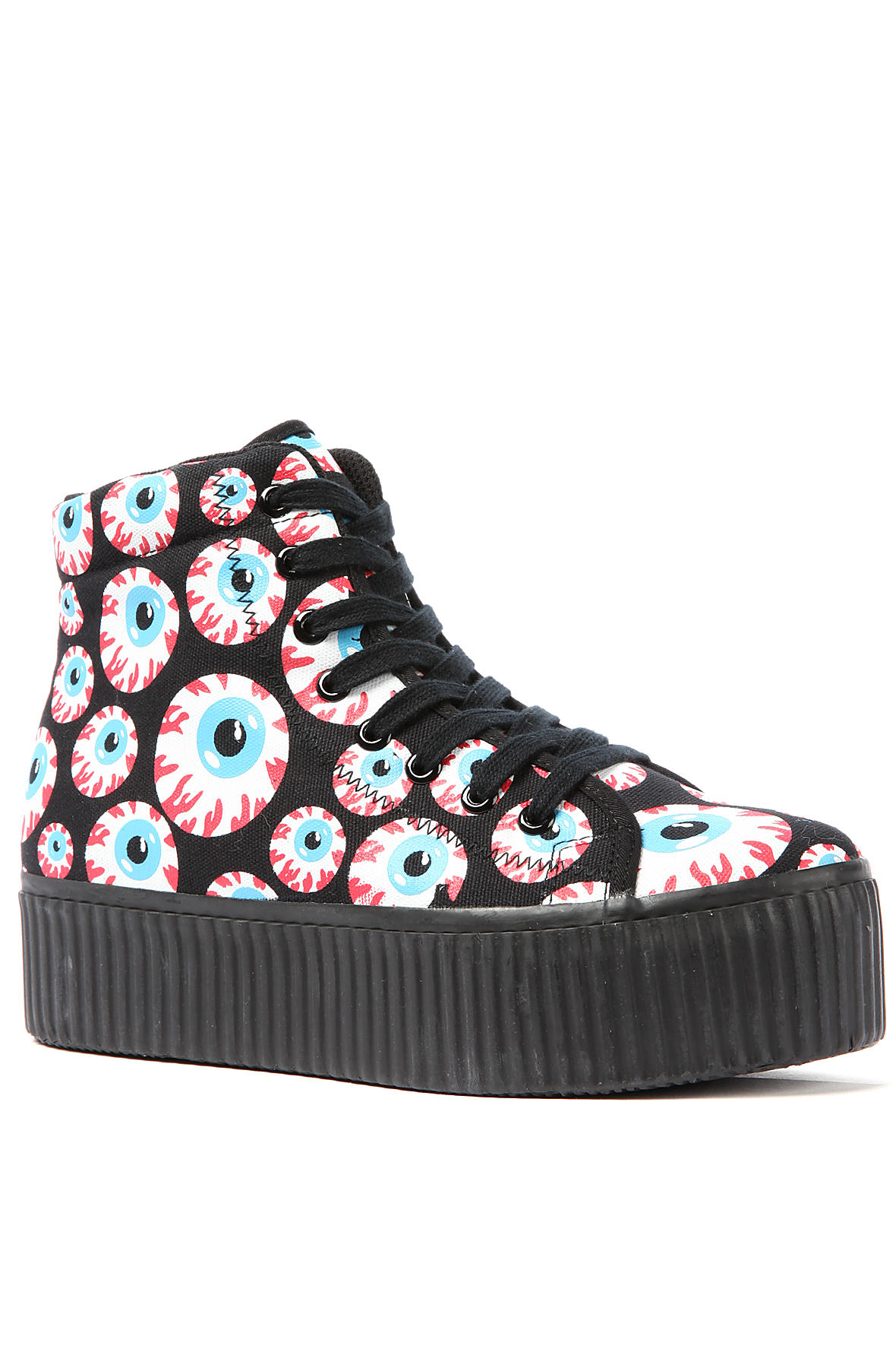 Jeffrey Campbell Sneakers Platform in Eyeballs Black