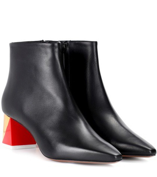 Neous leather ankle boots ankle boots leather black shoes