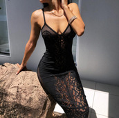 dress,black dress,lace dress,lace,black lace dress,spaghetti strap,mesh,intricate lace overlays,black,little black dress,bodycon,bodycon dress,midi,midi dress,party dress,sexy party dresses,sexy,sexy dress,party outfits,sexy outfit,summer outfits,summer dress,spring dress,fall dress,winter dress,classy dress,elegant dress,cocktail dress,cute dress,girly dress,date outfit,birthday dress,clubwear,club dress,homecoming,homecoming dress,wedding clothes,wedding guest,engagement party dress,dope