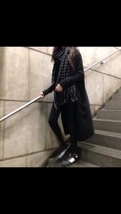scarf,black and white,tumblr