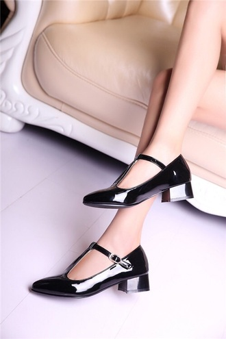 shoes classy t strap heels black shoes preppy