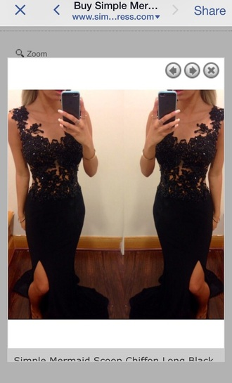 dress formal prom black dress