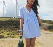 dress,blue shirt,blue dress,denim dress,summer dress,shirt dress,v neck dress,shirt,light blue