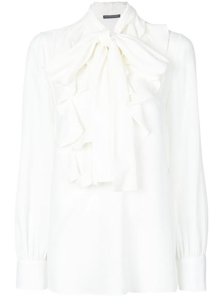 Alexander Mcqueen blouse women white silk top