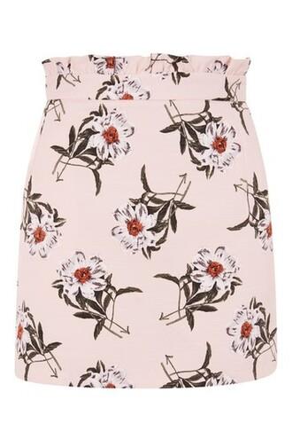 skirt mini skirt mini daisy print pink