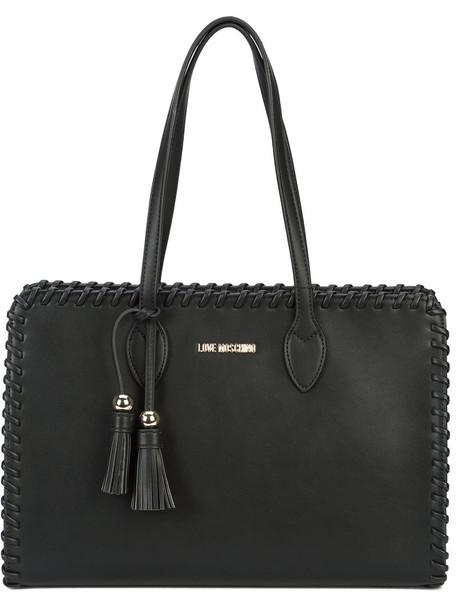 LOVE MOSCHINO women bag tote bag leather black